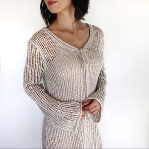 Anthropologie Moth Open Knit Tunic Sweater